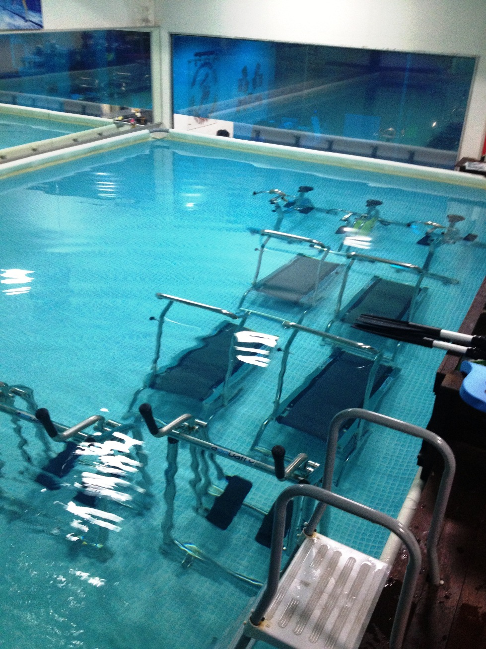 the 'gym' equipments of the watergym